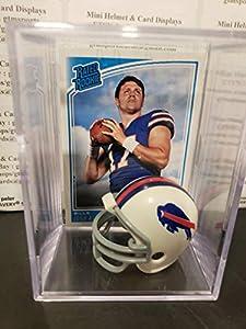 Josh Allen Buffalo Bills Mini Helmet Rookie Card Display Case Collectible RC Auto Shadowbox Autograph