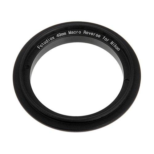 Fotodiox 10-Reverse-nikon-49 - Rosca de Filtro inverso para Nikon D1/D1H/D1X/D2H/D2X/D2Hs