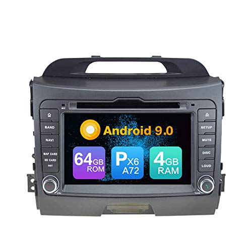 Great Price! Android 9.0 PX6 Cortex A72 64G ROM Autoradio GPS Navigation Radio for Kia SPORTAGE (201...