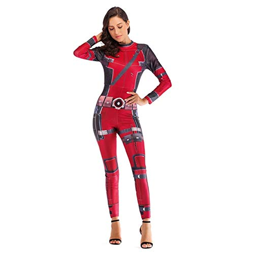 BCOGGGQuantum Iron Man - Disfraz de Capitn Marvel para mujer, disfraz de Halloween