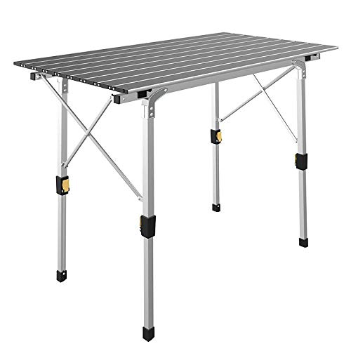IKAYAA Table Pliante d'extérieur en Aluminium,...