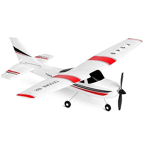2.4GHz Propulsor de hélice de avión con control remoto profesional Modelo de avión RC de alta velocidad para exteriores Planeador eléctrico recargable EPP Anticaída Radio Control remoto Avión