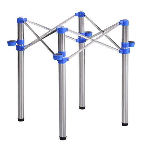 ZXL Meubelpoten inklapbare poten met standaard voor de tafel, tafelblad, tafelrek, Mahong, ijzeren rek van roestvrij staal, zilverkleurig + blauw