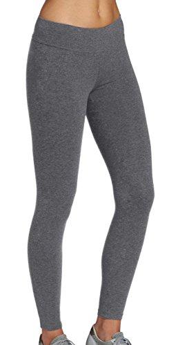 iloveSIA High Waist Sporthose Sport Leggings aus Baumwolle Fitnesshose Jogginghose damen Fitness Yogahose lang Blickdicht grau Strumpfhosen,L