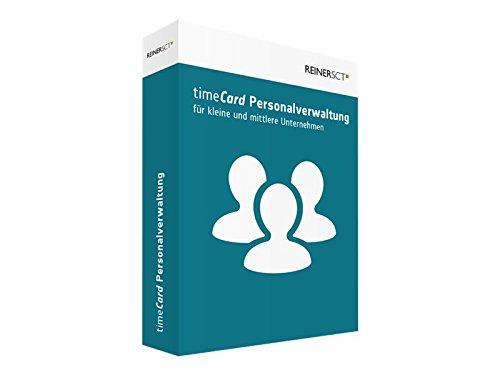 REINERSCT timeCard Personalverwaltung Basis Softwarelizenz komplett fuer 25 Mitarbeiter ohne Chipkarte und Transponder.