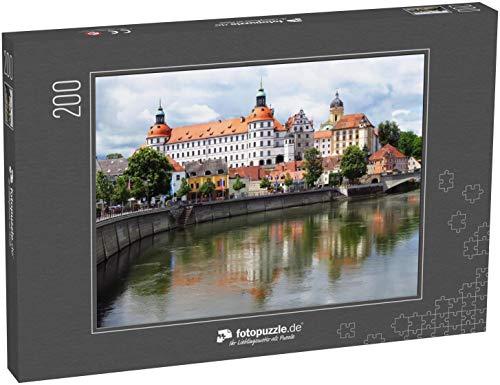 Puzzle 200 Teile das Schloss Neuburg an der Donau, Bayern, Deutschland - Klassische Puzzle, 1000 / 200 / 2000 Teile, edle Motiv-Schachtel, Fotopuzzle-Kollektion 'Burgen'