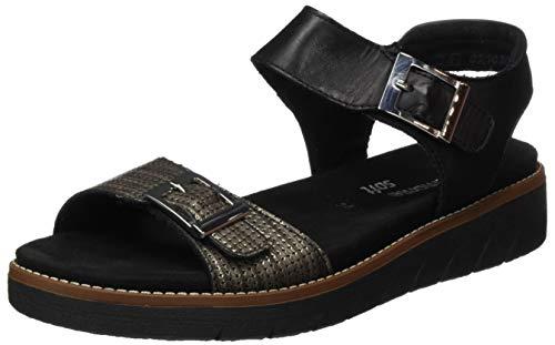 Remonte Sandały damskie D2051 Slingback, czarny - Czarny antyczny czarny 02-45 EU