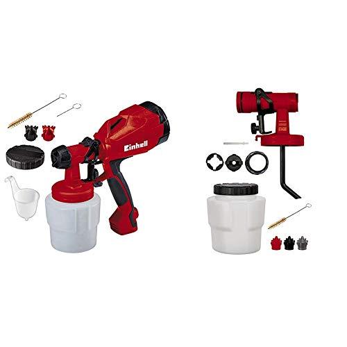 Einhell TC-SY 400 P 0.8L - Pulverizadores de pintura (Pintura, 0,8 L, 0,5 l/min, Negro, Rojo, 275 mm, 128 mm) + Recambio Pistola Pintar con Deposito de 800 ml, 1 V, Rojo