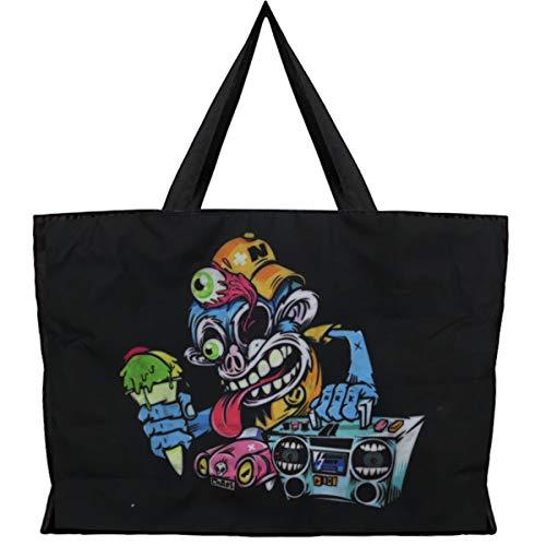 Puyang 15.6in Laptop Halloween Xmas Shoulder Bag Skull Gothic Punk Waterproof Eco Canvas Handbag (Halloween Music Night) A9