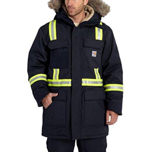 Carhartt Men's 100783 Flame-Resistant Extremes Arctic Parka - Sherpa L - 2X-Large Regular - Dark Navy