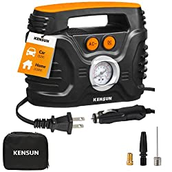 commercial Kensun Portable AC / DC Powered Air Compressor Pump, Up to 100 PSI with Analog Display, Home … automobile tire pumps