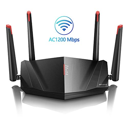 WiFi Router-AC1200 Wireless Router,2.4GHz&5GHz Smart Wifi Router Supports MU-MIMO &Beamforming Technology,Gigabit Router with 1xGigabit WAN Port,3x Gigabit LAN Ports,WPS,Easy to Set-up, Ideal for Home