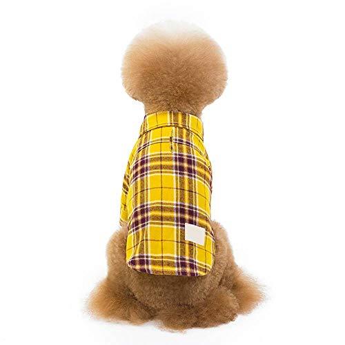 CUIZC Hundekleidung Lässige Karierte Hemdwelpen-Baumwollkleidung
