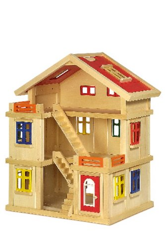 Grande maison de luxe en bois modulable pour poupées ou Playmobils