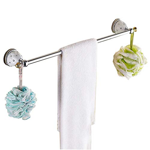 European Single Towel Bar Golden Blue And White Porcelain Towel Rack Stainless Steel Towel Rack Toilet Bathroom Accessories Towel Rails (Size : 50cm)
