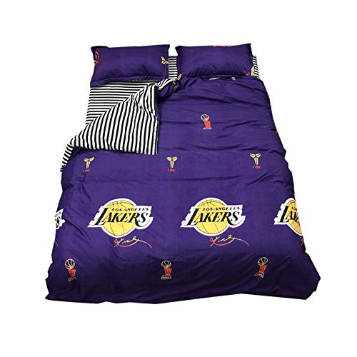 NAFE 2020FMVP Los Angeles Lakers – Juego de funda de edredón de baloncesto sábanas de 4 piezas Twin/Full/Queen/King/California King Size para adolescentes Twin