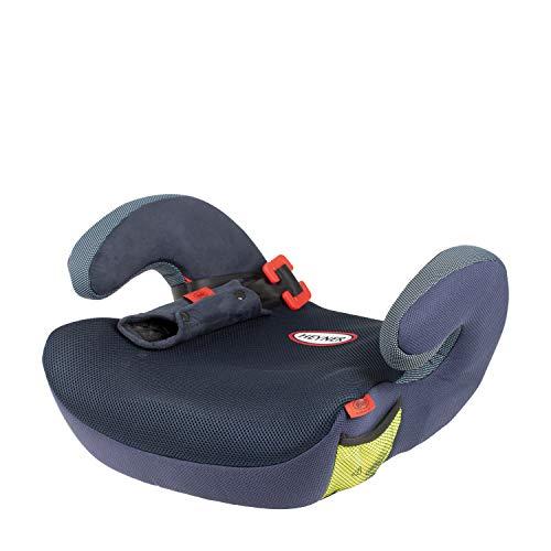 HEYNER® Autositz Kindersitzerhöhung mit Gurtführung ECE-Gruppe 2 und 3 Sitzerhöhung Kinder 3-12 Jahre 15 bis 36 kg Booster (Cosmic Blue)