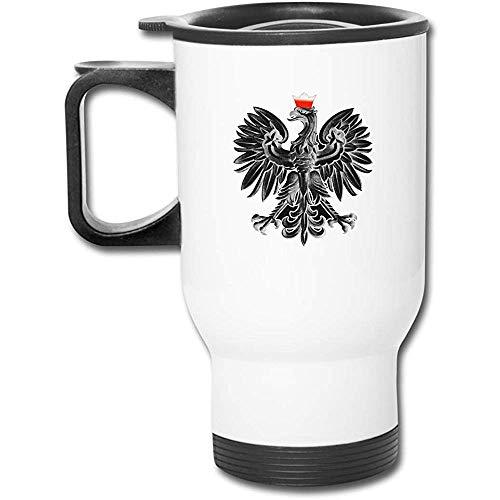 POLSK EAGLE POLAN Edelstahl-Isolierreisebecher mit Deckelladeschalen Isolierkaffeetasse