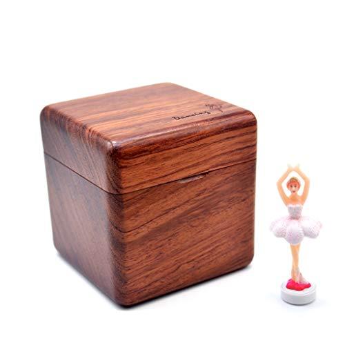 Boîte à musique manuelle Boîte à musique en bois, ballet créatif rotation danseur créatif décoration boîte à musique cadeau d'anniversaire Saint Valentin Bon son ( Color : C , Taille : Cannon )