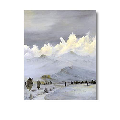 Canvas poster en print muurschilderingen canvas schilderij moderne sneeuw berg woonkamer meubels foto's 48x60cm geen