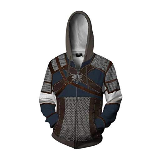 SQDWYA sweatshirt met capuchon, 3D, klassiek spel Wizard 3 Series 3D sweatshirt Copplay Anime 3D digitale print