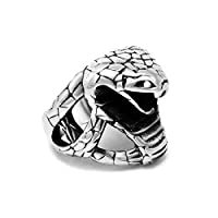 蛇 指輪 スネーク リング ユニークデザイン クレイジー ステンレス コブラ メンズリング 19号