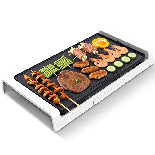 Weinset Teppanyaki Tischgrill Antihaft-Grillplatte mit Einstellbarer Temperatur Grill-Kochplatte Grill Thermostatsteuerung Abnehmbar Geeignet für den Innen- und Außenbereich