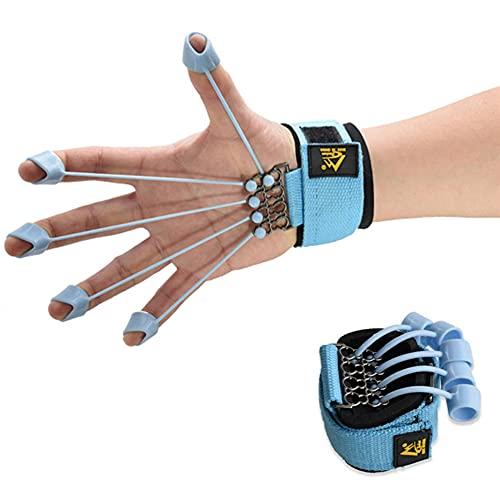 uigiut Finger Gripper Strength Trainer Hand Yoga Resistance Band Finger Expander, Finger Extension Exerciser, Finger Strengthener Exercise Trainer (40lbs)