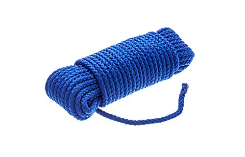 Attwood 11713-2 Hollow Braided Polypropylene Utility Line, 5/16-Inch Thickness, 50 Feet Length, Blue