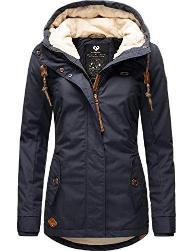 Ragwear Damen Winterparka Winterjacke Monade Navy20 Gr. XL