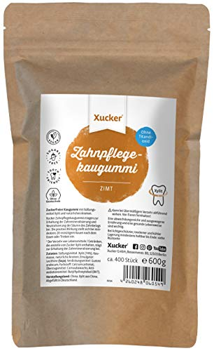 Xucker Zuckerfreie Zahnpflege-Kaugummis mit Xylit - Kaugummi zuckerfrei mit Spearmint Geschmack I Vegane Xylitol Birkenzucker Kaugummis zur Zahnpflege und gegen Mundgeruch (600g)