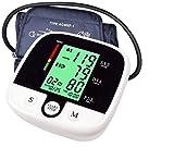 SMSOM Medidor de BP Monitor de presión Arterial Superior del Brazo automático Digital 2x90Reading Memoria Pantalla Grande, con luz de Fondo rápida Lectura for Uso doméstico