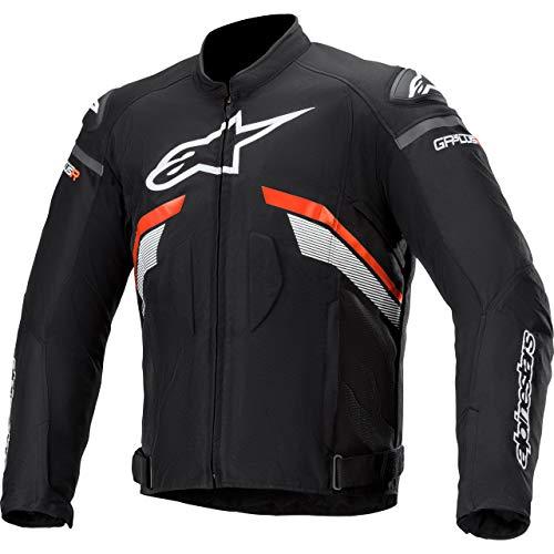 Alpinestars Motorradjacke mit Protektoren Motorrad Jacke T-GP Plus R V3 Textiljacke schwarz/neonrot/weiß M, Herren, Sportler, Ganzjährig