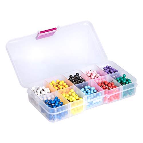 AmazonBasics 1/8-Inch Push Pins Map Tacks 10 Colors (Each Color 100 PCS) - 1000-Pack Photo #4
