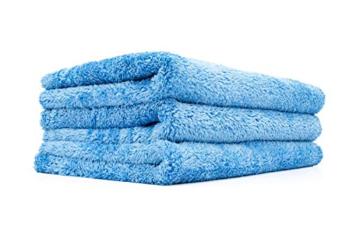The Rag Company (3-Pack 16 in. x 24 in. Eagle EDGELESS 500 Professional Korean 70/30 Super Plush 500gsm Microfiber Detailing Towels