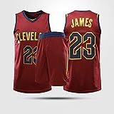 YZQ Jersey De Baloncesto - Cleveland Cavaliers # 23 Lebron James - Jersey NBA Chaleco Basketball Jersey Unisex Sin Mangas Traje,10(child95~110cm)