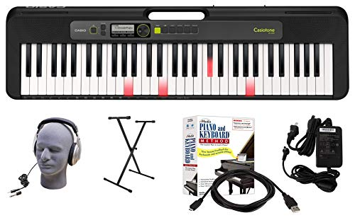 Review Casio LK-S250 61-Key Premium Lighted Keyboard Pack with Headphones, Stand, Power Supply, 6-Fo...