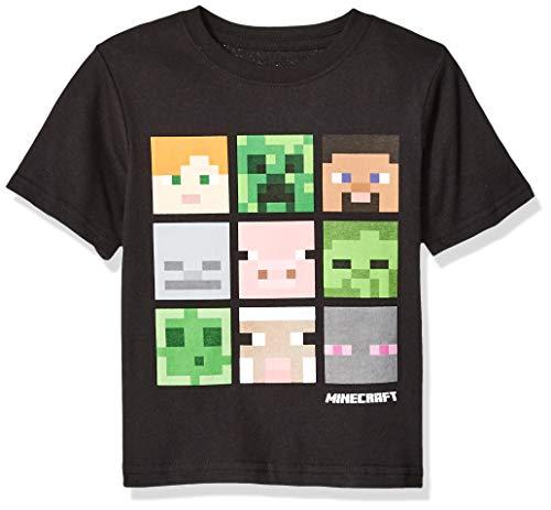 Minecraft Little Boys Box Figure T-Shirt, Black, 7