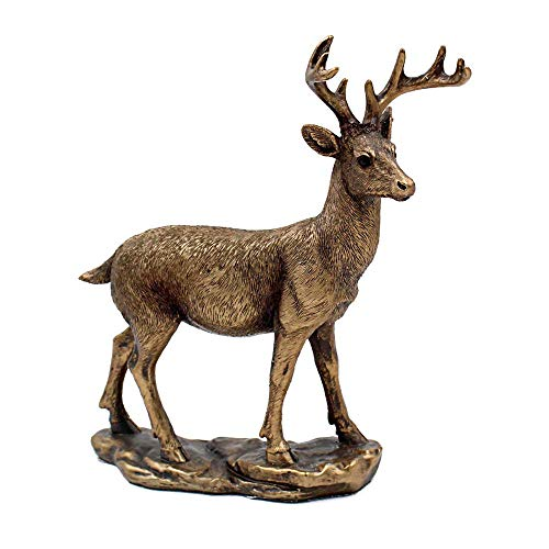 Lesser & Pavey Reflections Bronzed Deer Ornament