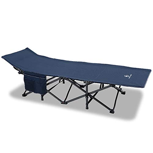 ALPHA CAMP Oversized Camping Cot Supports 600 lbs Sleeping Bed Folding Steel Frame Portable with Carry Bag,Navy