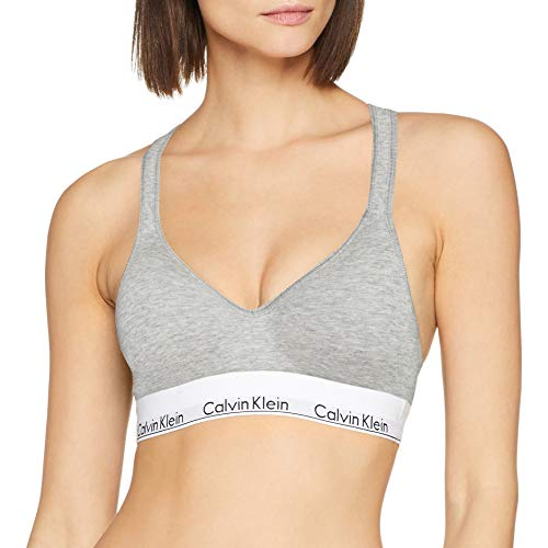 Calvin Klein Underwear 000qf1654e, Corsé Para Mujer, Gris (Grey Heather 020), L...