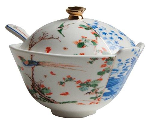 zuccheriera in porcellana + cucchiaino in porcellana hybrid-maurilia Seletti
