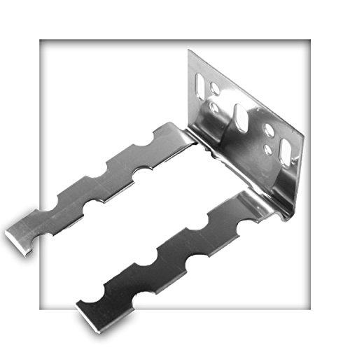 Wandanschlussanker beweglich Edelstahl 60 x 1,25 Wandanker Maueranker Mauerverbinder 10 Stück