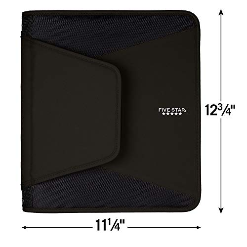 Five Star 1-1/2 Inch Zipper Binder, 3 Ring Binder, 3-Pocket Expanding File, Durable, Black (72204) (Limited Edition) Photo #4
