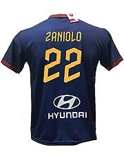DND Di D'Andolfo Ciro Seconda Maglia Calcio Roma Blu Zaniolo 22 Replica autorizzata 2019-2020 Taglie da Bambino e Adulto.