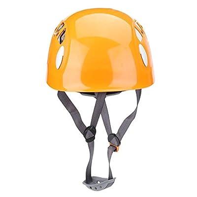 Climbing Helmet Outdoor Sports Safety Helmet Mountain Ice Rock Climbing Cycling Protection Helmets(Orange)