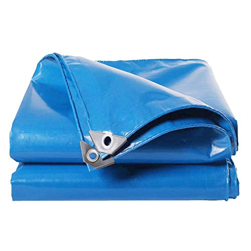 Invinld Blue PVC waterproof tarpaulin Super waterproof poncho rainproof sunscreen toughness is not easy to tear easy to fold multi-function poncho (Size : 2m*3m)