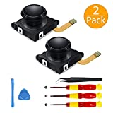 [New Version] 2 Pack 3D Replacement Joystick Analog Thumb Stick for Nintendo Switch Joy-Con Controller -...