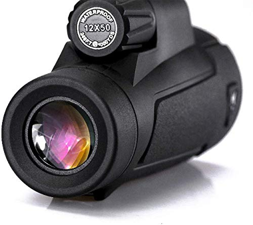 Waterdichte 12x50 High Powered Monoculair Side Hand Strap met statief Outdoor Binoculares Sports telescoop verrekijkers om vogels te observeren mini telescoop (Monocular)