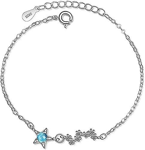 NC188 Collar Mujer Collar Azul Planeta Cristal Simple Pulsera Mujer